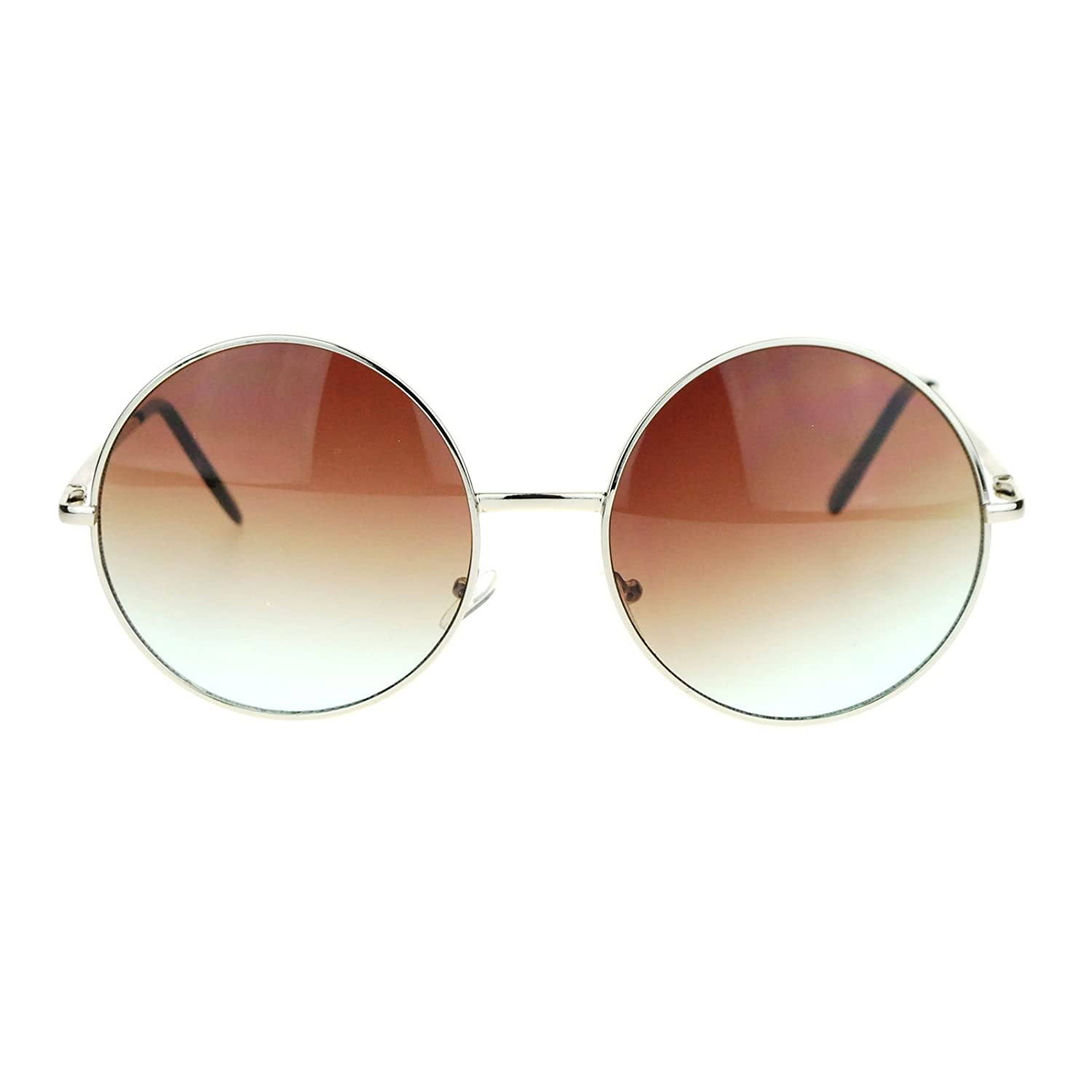 Hippie Retro Groovy Gradient Oversize Circle Lens Round Lennon Sunglasses ss3405mh-bl