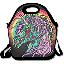 Zombie Unicorn Lunch Tote Insulated Reusable Picnic Lunch Bags Boxes For Men Women Adults Kids Toddler Nurses