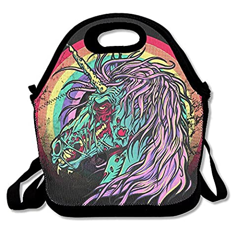 Zombie Unicorn Lunch Tote Insulated Reusable Picnic Lunch Bags Boxes For Men Women Adults Kids Toddler (Simulators For Women)