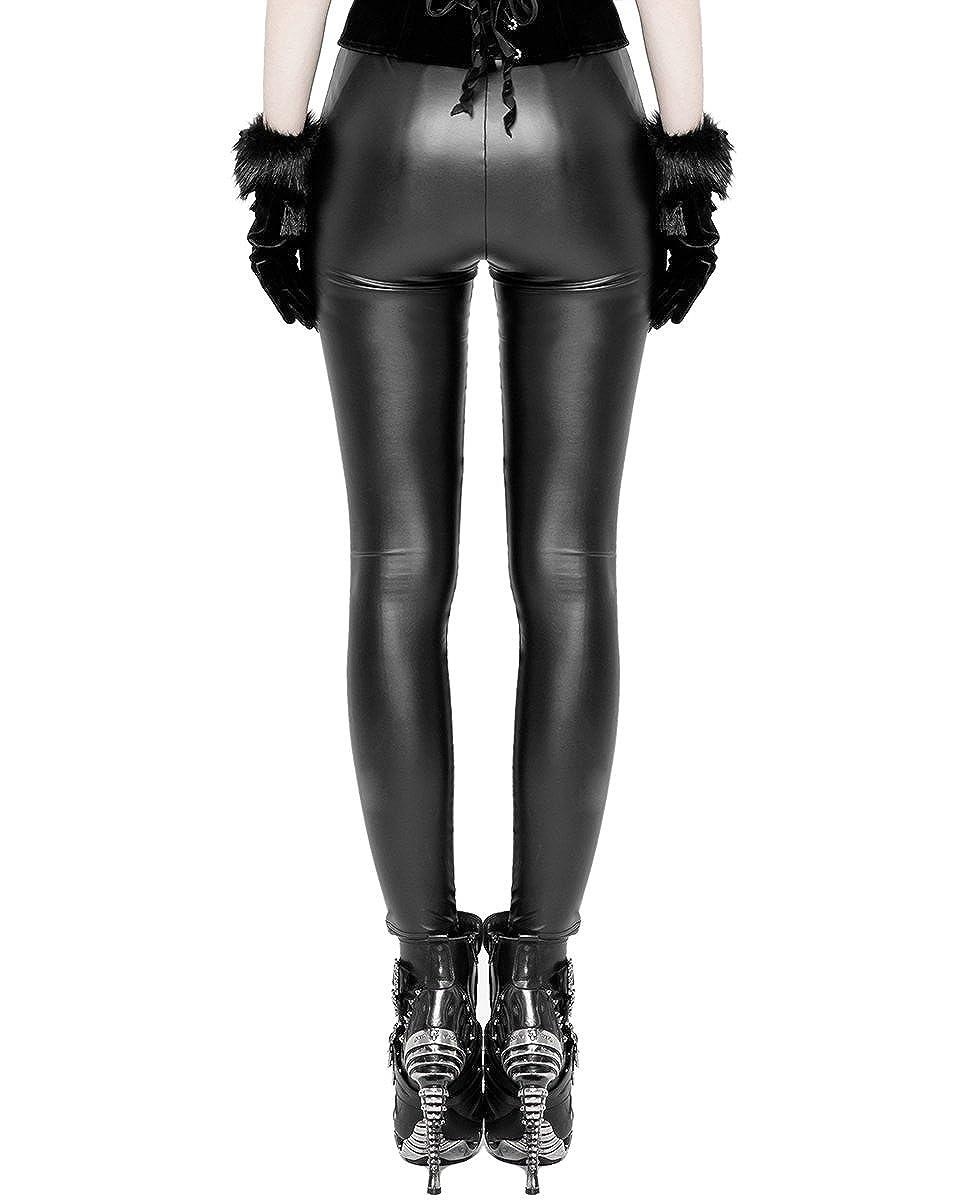 Punk Rave Femmes Gothique Leggings Similicuir Noir Steampunk Lacets Vintage   Amazon.fr  Vêtements et accessoires 8660539490f8