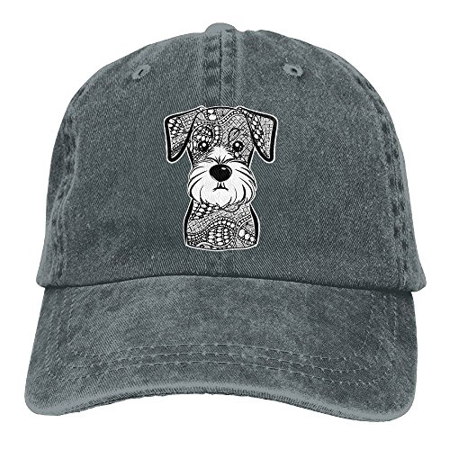 ONE-HEART HR Mini Schnauzer Dog Adult Cowboy Baseball Caps Denim Hats For Men Women ()