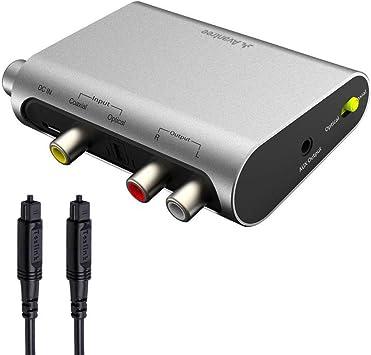 Avantree DAC02 DAC Convertidor Audio Digital Analógico, Conversor Optico a RCA con Toslink Cavo, Control Volumen, 192 KHz, TV SPDIF Entrada Audio Óptico Coaxial, Salida Auricular Altavoz 3.5mm AUX: Amazon.es: Electrónica