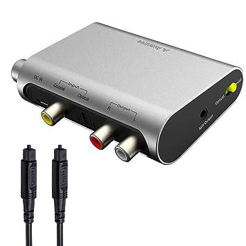 Avantree DAC02 DAC Convertidor Audio Digital Analógico, Conversor Optico a RCA con Toslink Cavo,