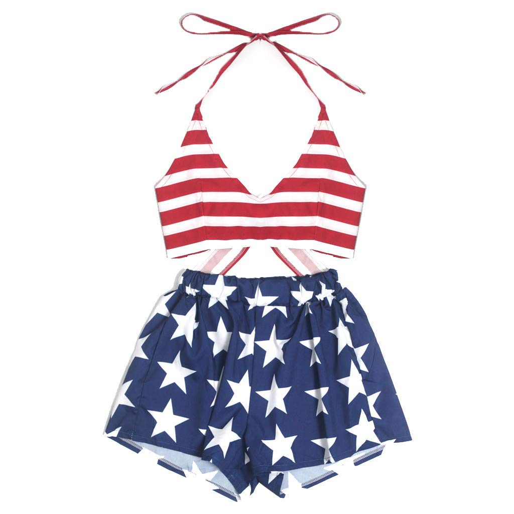 Hatoys Toddler Baby Girls Striped Print Vest Tops+Hole Denim Jean Shorts Outfits Sets