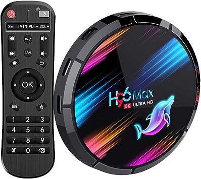 Android TV Box, H96 MAX X3 Android 9.0 TV Box con Amlogic S905X3 Quad-Core Cortex-