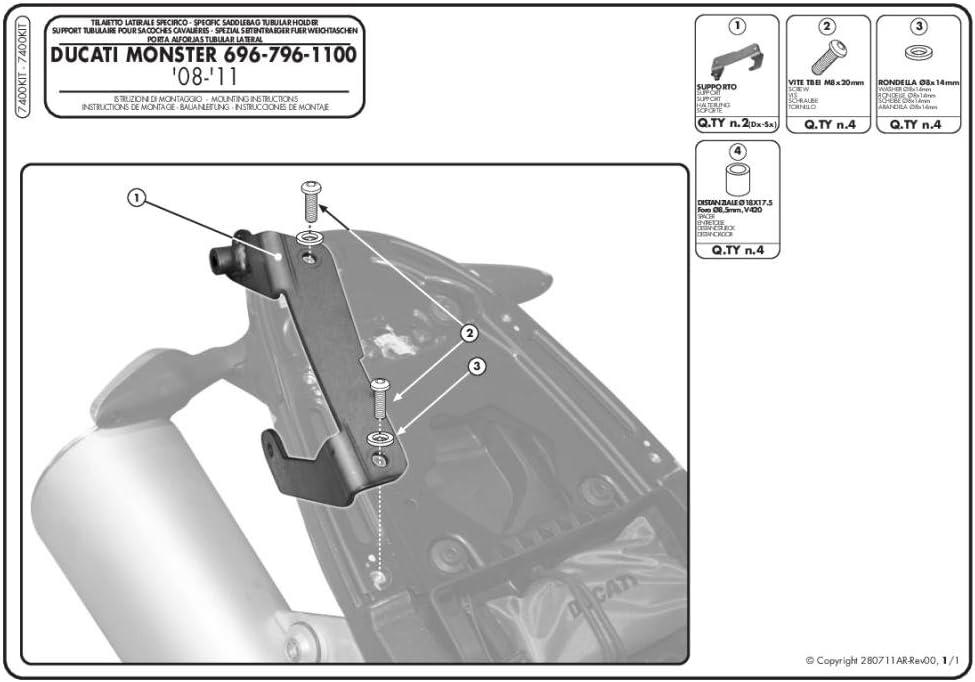 Givi 7400KIT Side Case Kit