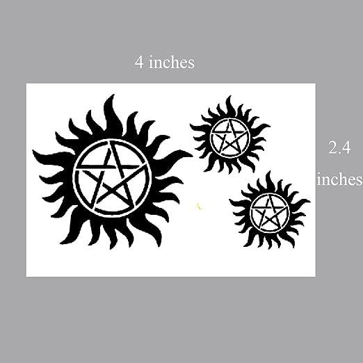 Yeeech Supernatural Merchandise Anti Possession Pentagram Sun Circle