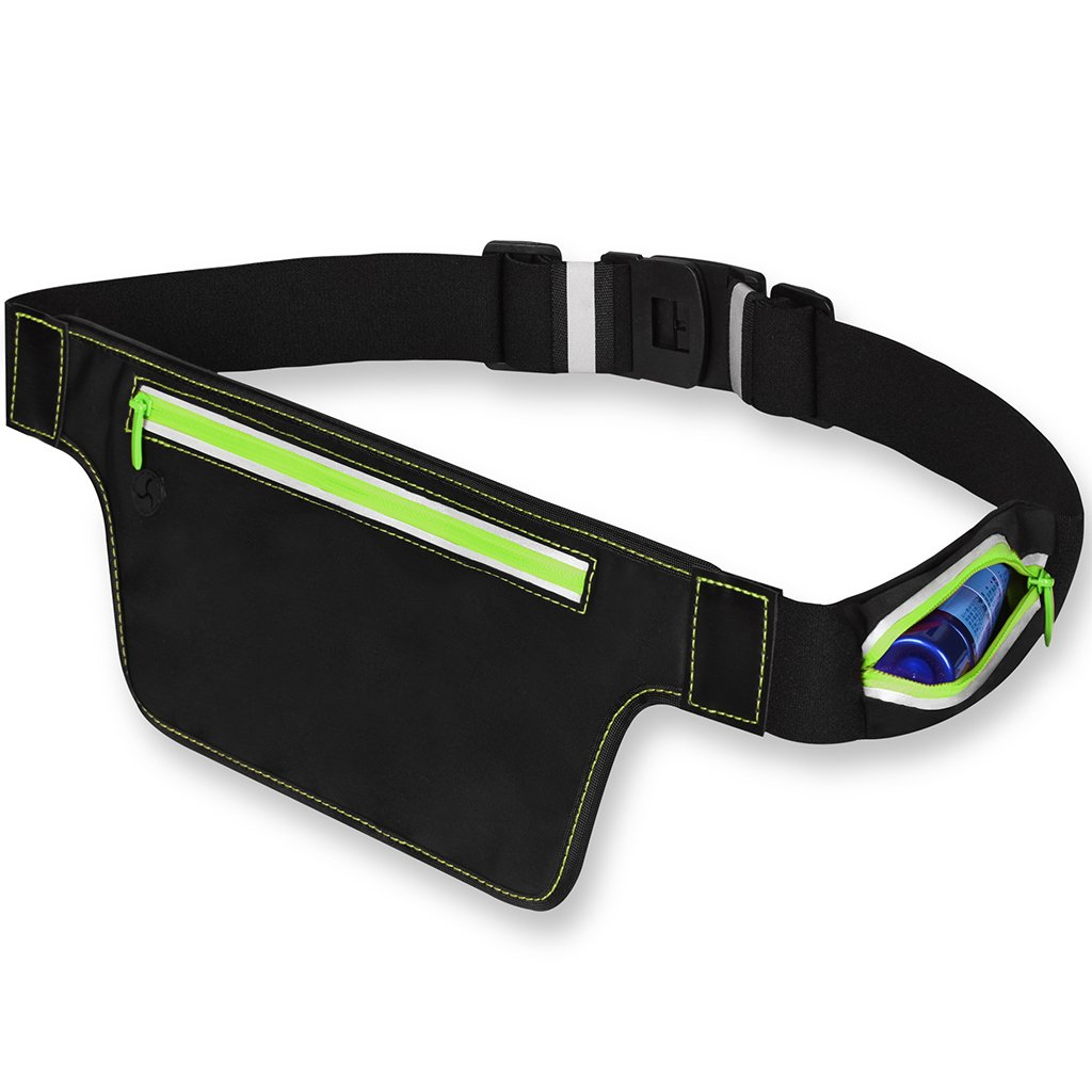 Eyourlife Running Belt Water Resistant Travel Waist Bag Hand Free Workout Pouch for Hiking Cycling Jogging Camping