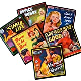 Pulp Fiction Book Cover Drink Coaster Set