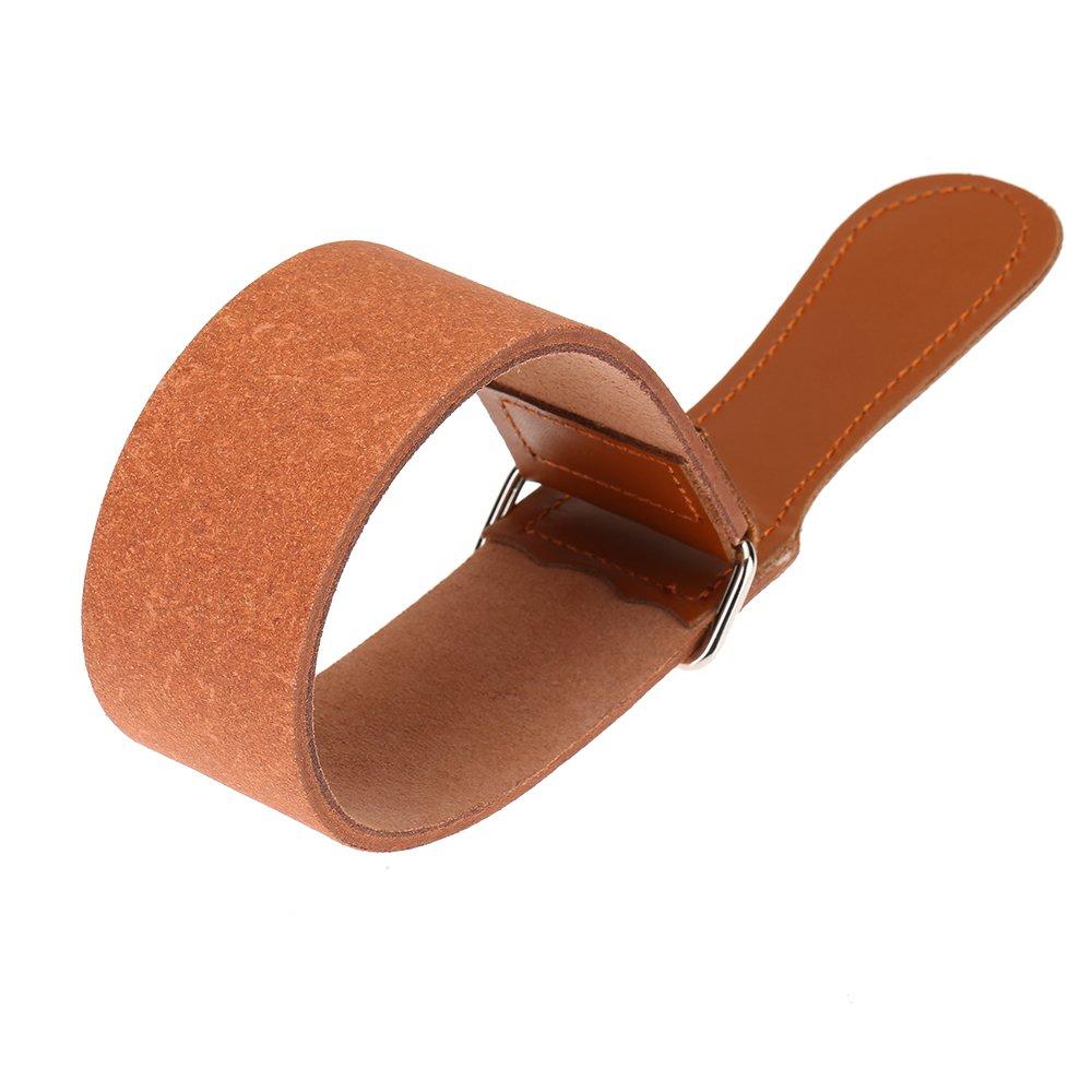 Anself Men's Shaving Leather Strap Cowhide Throat Razor Strop Straight Cut Sharpening Strop Belt