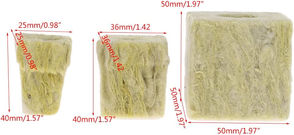 A William-Lee Rockwool Cube Hydroponic Grow Media Soilless Cultivation Planting Compress Base