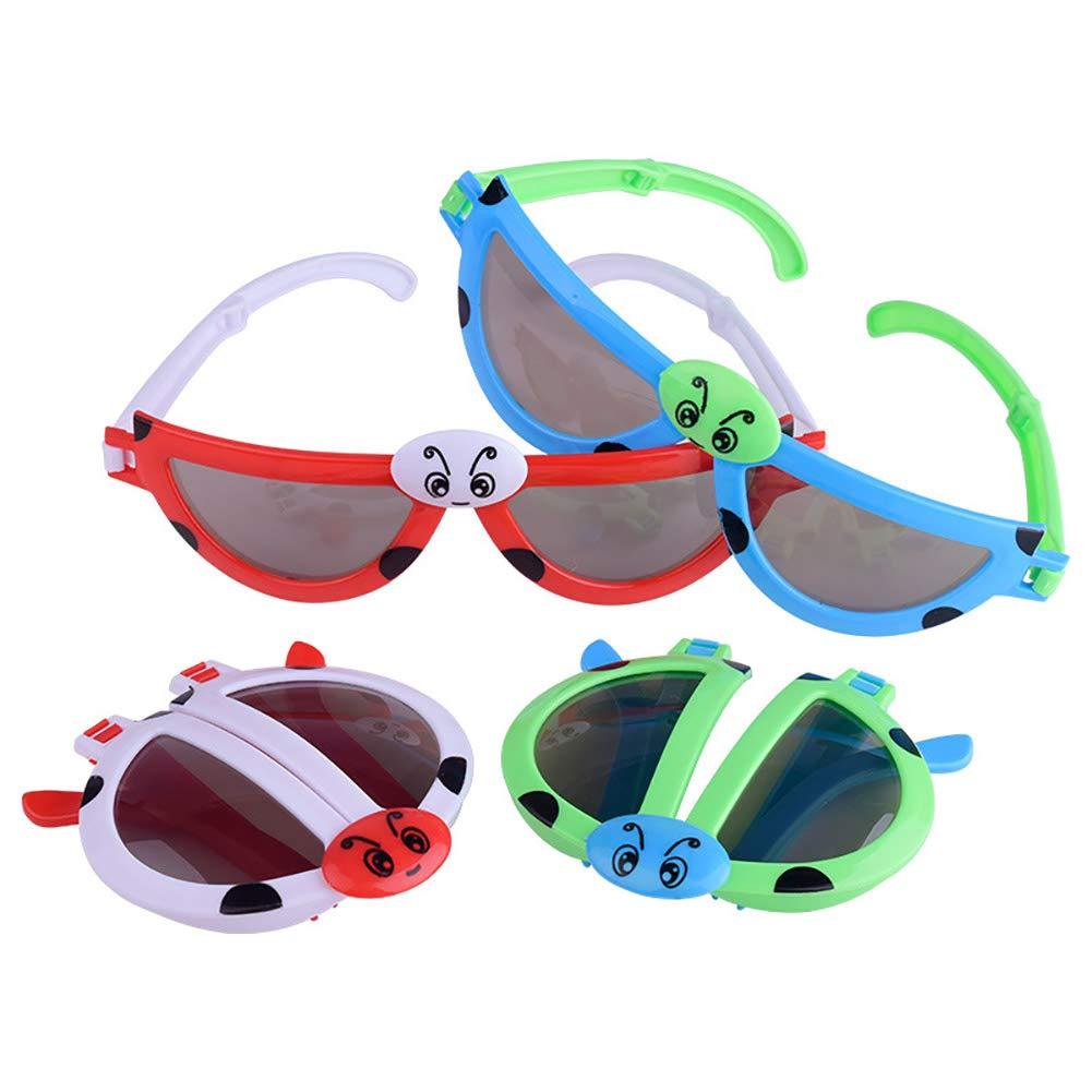 BrawljRORty Toys, Foldable Kids Sunglasses Girls Boys Glasses Cute Child Eyewear Shades Goggles