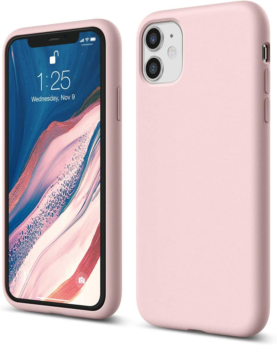 elago iPhone 11 Case |Lovely Pink| - Premium Liquid Silicone, Raised Lip (Screen & Camera Protection), 3 Layer Structure, Full Body Protection, Flexible Bottom