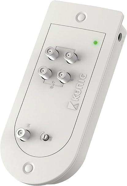 Amplificador para antena de TV, 1 entrada, 4 salidas, 23 dB ...