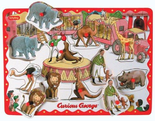 Schylling Curious George Peg Puzzle ()