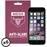 Apple iPhone 6/6S Screen Protector Pack, Matte Anti Glare by Minotaur (6 Screen Protectors)