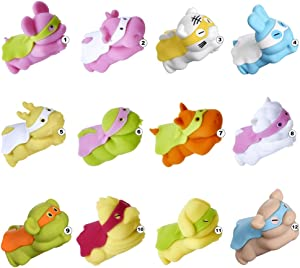 Phone Cable Protector, Marnana Cute Animal Bites Phone Charging Cable for iPhone iPad Lightning Samsung Type-C Android Micro-USB Cord, 12 Chinese Zodiac Signs Cell Phone Cable Accessories - 12 Pack