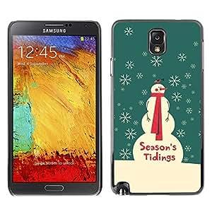 YOYO Slim PC / Aluminium Case Cover Armor Shell Portection //Christmas Holiday Seasons Tidings Snowman 1136 //Samsung Note 3