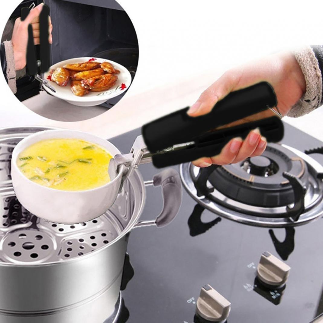 Pinzas de acero inoxidable para recoger platos calientes y ollas, pinzas para recoger la horno, horno, chef, estufa, horno, horno, horno, horno, horno, ...