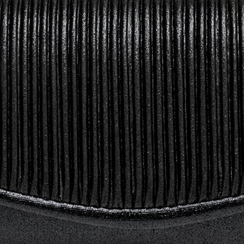 Flap with Gathers on the Clutch CASPAR Bag TA399 Black Evening Elegant Glitter Small Ladies zz8wxBq7