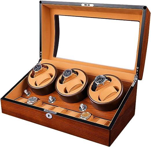 QLL Estuche Bobinadora para Relojes, Cargador para Relojes Automáticos Rolex,Estuche de Madera + Acabado Piano,Aloja hasta 13 Relojes (Color : Marrón-48x26x21.5cm): Amazon.es: Relojes