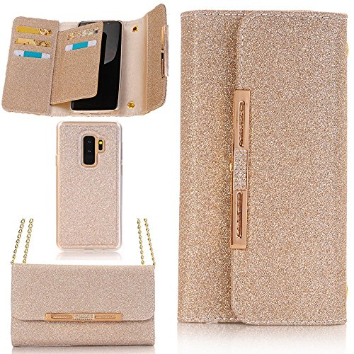 iPhone 8 Case,TechCode Women Cute Style Candy Color PU Leather Stand Cover with Cards Slots Flip Lady Multi Envelope Package Handbag Wallet Case for Apple iPhone 8 (iPhone 8 ,Turgant Gold) by TechCode