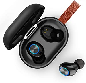 XRQ Wireless Earbuds, Bluetooth Earbuds with Microphone HiFi Stereo in-Ear Headphones, CVC 8.0 Noise Cancelling, Touch Control,USB-C Quick Charge, Waterproof, Sports