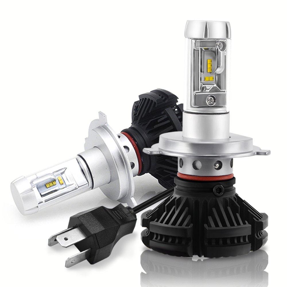 H4 HB2 9003 faro a doppio fascio LED, Mesllin 3000K 6500K 8000K ZES Kit di conversione lampadina faro auto con fascio Hi-Lo 12.000 lms fai da te 3 colori (bianco puro/giallo / bianco freddo) NW-X3H4