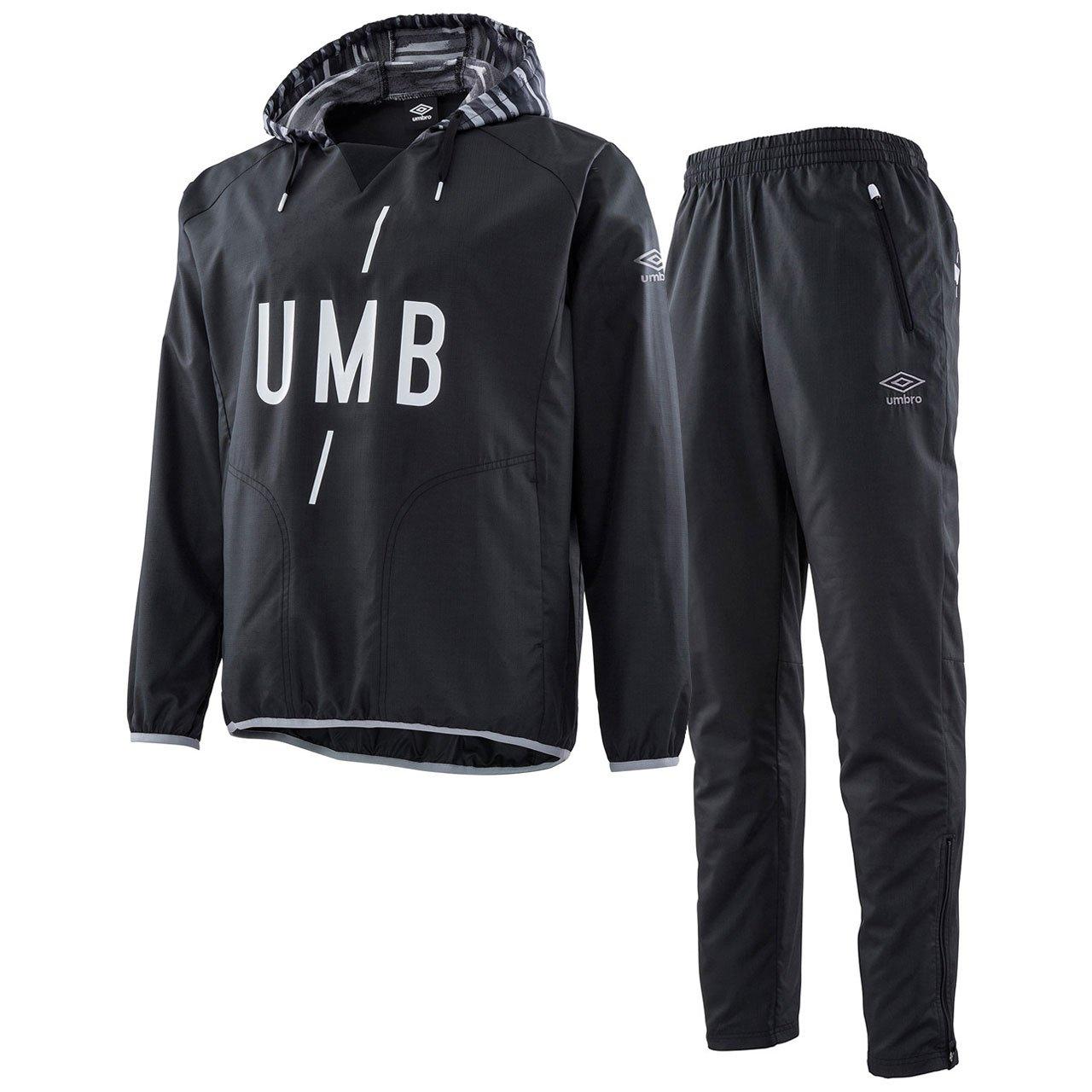 アンブロ(UMBRO) URA ピステトップ&ラインドロングパンツ 上下セット(ブラック/ブラック) UMULJF33-BLK-UMULJG32-BLK B07DLVG5TK 日本 M-(日本サイズM相当)|ブラック/ブラック ブラック/ブラック 日本 M-(日本サイズM相当)