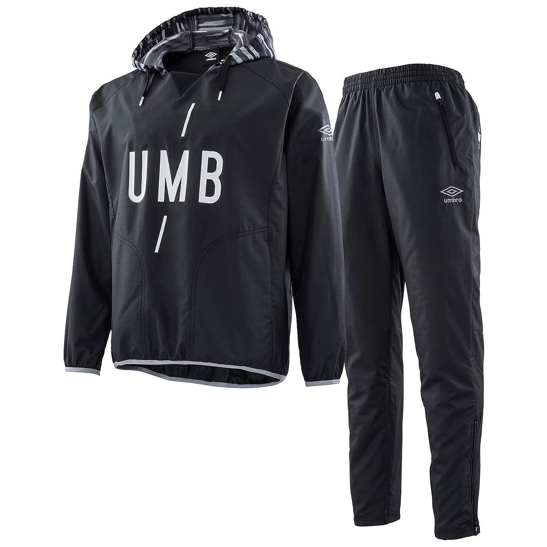 アンブロ(UMBRO) URA ピステトップ&ラインドロングパンツ 上下セット(ブラック/ブラック) UMULJF33-BLK-UMULJG32-BLK B07DLVTGMXブラック/ブラック 日本 L-(日本サイズL相当)