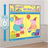 Peppa Pig Kids Party Scene Setter Wall Decorations Kit - Kids Birthday and Party Supplies Decoration