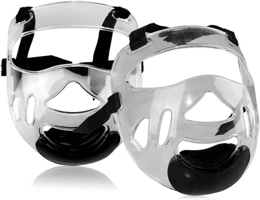 Fansport Sport Clear Face Shield Head Protective Gear Detachable Transparent Taekwondo Helmet Mask for Men Women