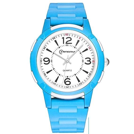 Niño Relojes del cuarzo,Movimiento Resistente al agua reloj Niña Chico Relojes digitales Natación-B: Amazon.es: Relojes