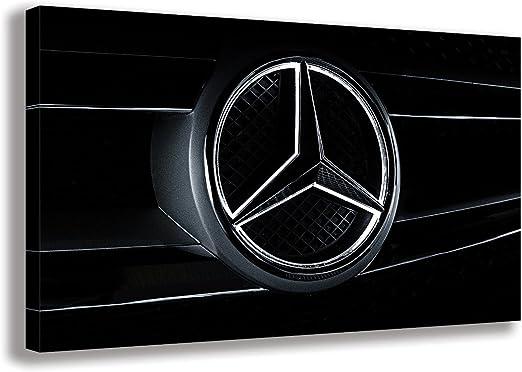Car Auto Logo Badges Large Poster Art Print Black /& White Card or Canvas