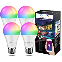 LE Smart WLAN ledlampen E27 gloeilamp dimbaar 8,5W 806LM, intelligente multicolor meerkleurige lamp