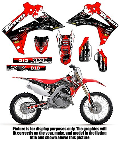 Team Racing Graphics kit for 2005-2007 Honda CRF 450R, SCATTER (Accessories Crf 450r)