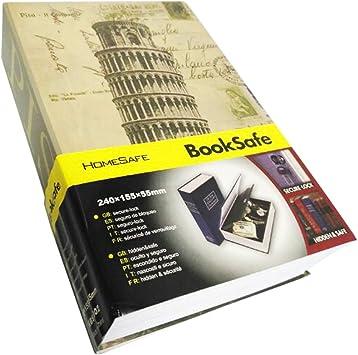 SEPOX - Caja fuerte con forma de libro con cerradura para llaves: Amazon.es: Bricolaje y herramientas