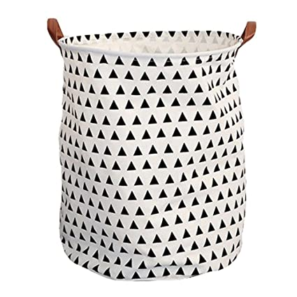 Large Storage Bin, NiceEshop(TM) Cotton/Canvas Storage Basket With Handles  For