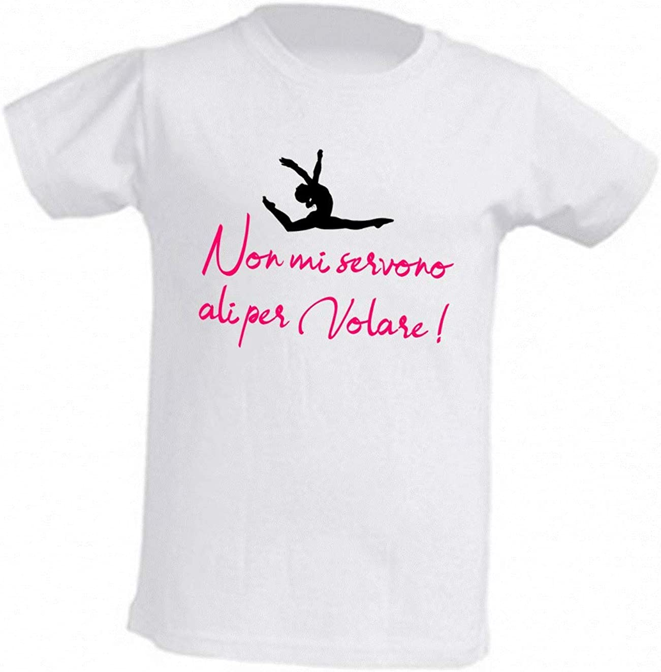 WIXSOO T-Shirt Ginnastica Bambina Ali