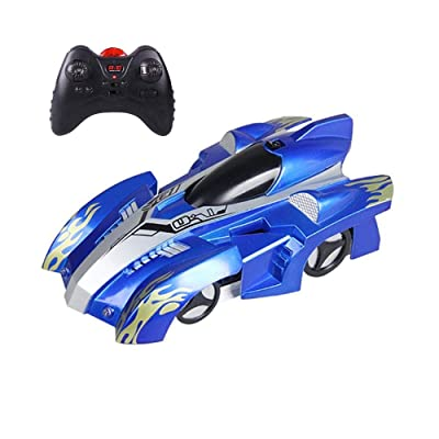 ZALE Oversized Remote Control Car, Can Be Used On The Ceiling Remote Control Cars, Remote Control Anti-Gravity Remote Control Car for Boys for Birthday Gifts Swing (Color : Blue): Home & Kitchen