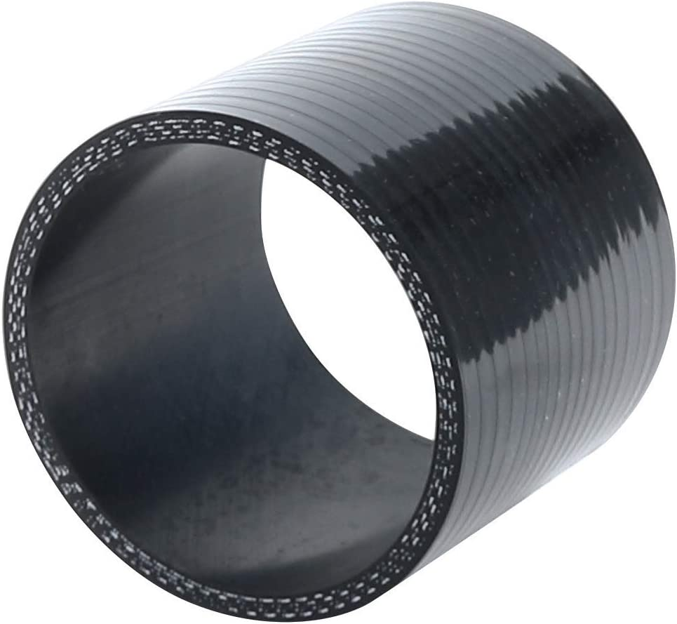 4.5mm Wall Thickness 0.18 76mm 80 PSI Maximum Pressure,Universal Automotive Pure Silicone Hose,Black 60mm to 70mm 3-Ply Reinforced Length 3 ID 2.35 to 2.75 Straight Reducer No Logo