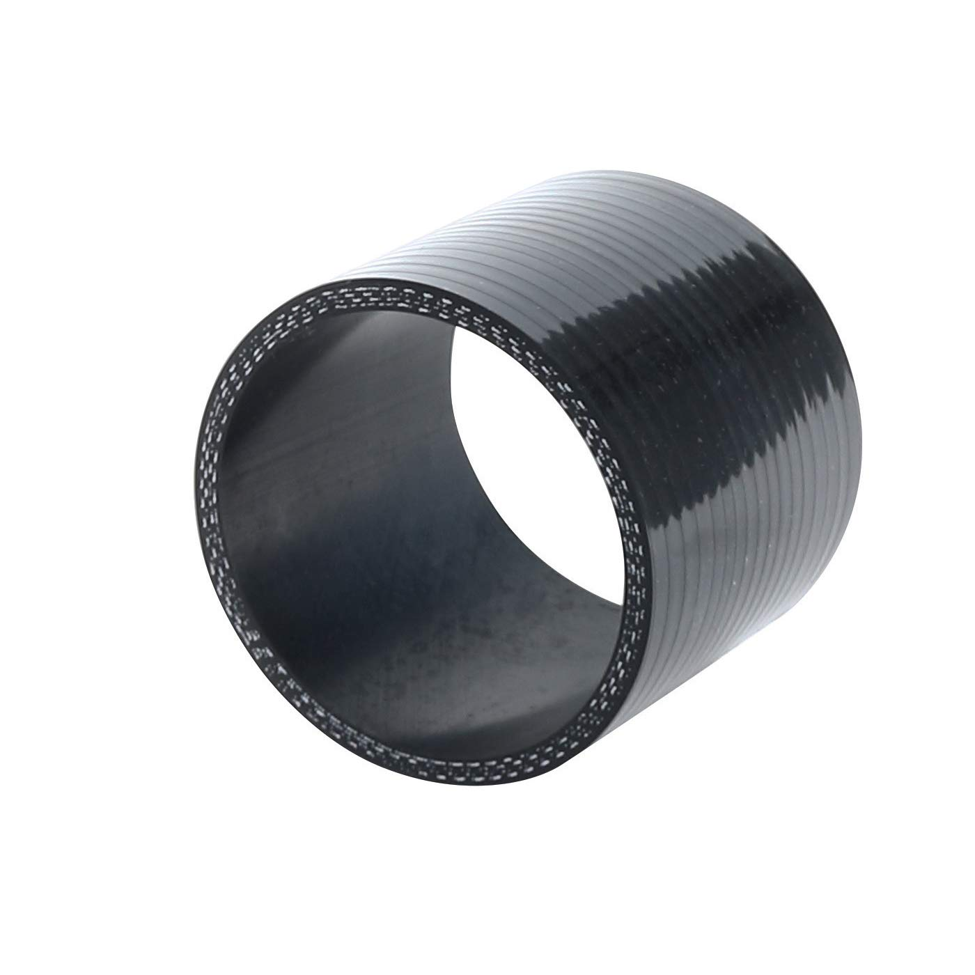 ID 2.5 to 3 Black Leg Length 3.5 Wall Thickness 0.18 90mm 80 PSI Maximum Pressure 63mm to 76mm 3-Ply Reinforced 90 Degree Reducer Coupler 4.5mm Universal Automotive Silicone Hose