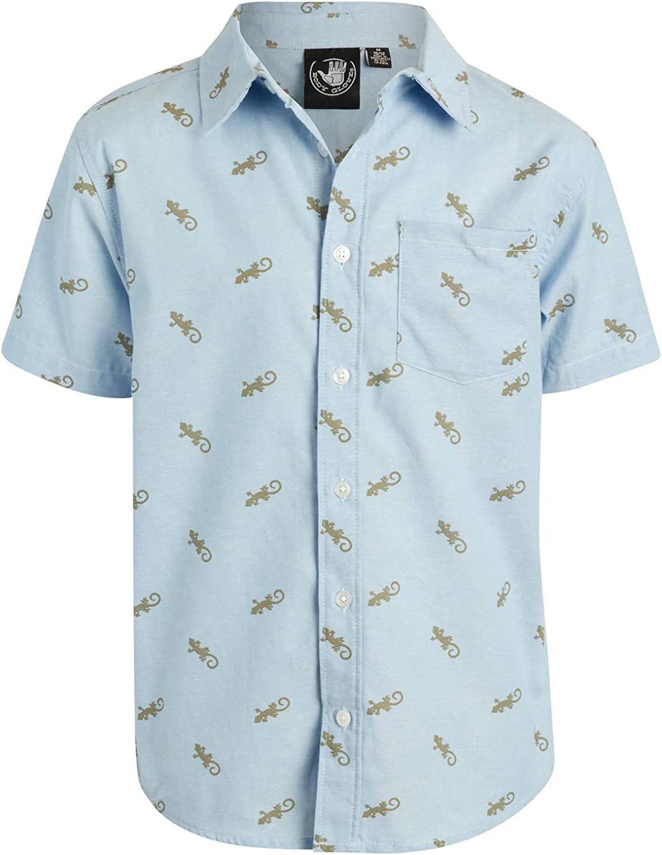 Body Glove Boys Short Sleeve Button Down Summer Beach Shirt: Clothing