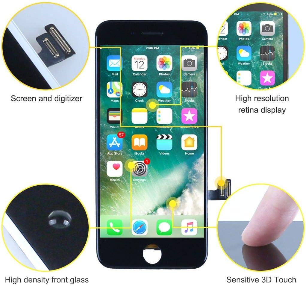 T/áctil OLED Reemplazo con Herramientas de Reparaci/ón bokman OLED Pantalla para iPhone XS Negro
