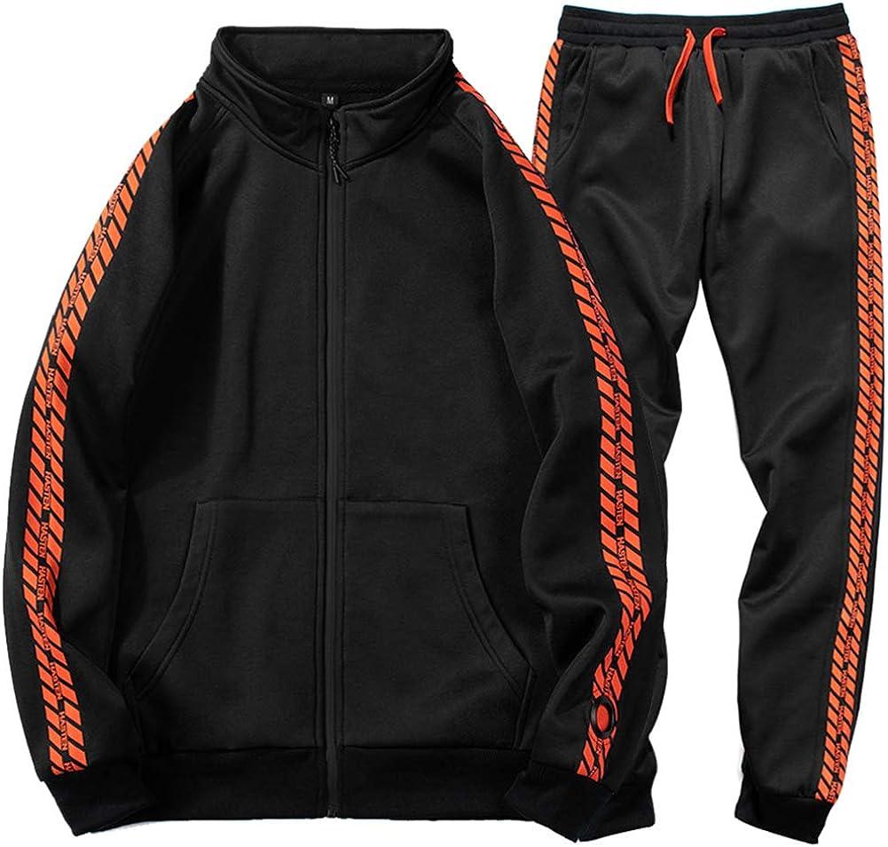 Details about  /Men Athletic Tracksuit Casual 2 Piece Sport Pants Hooded Sweater Sweatsuit Sets