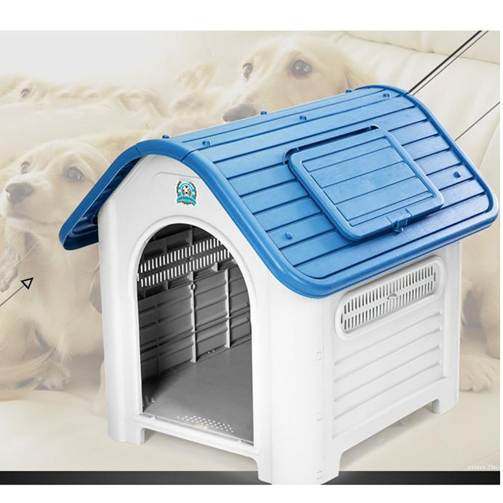 bluee XL bluee XL FPigSHS Cats and dogs houses plastic waterproof Indoor and outdoor pet nest (color   bluee, Size   XL)