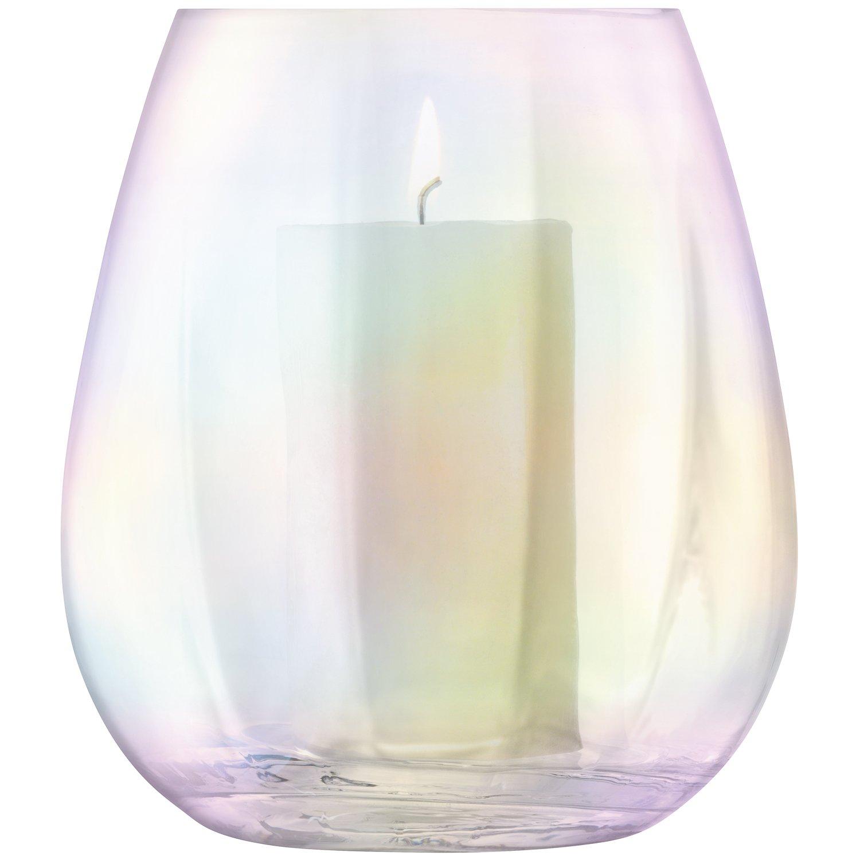 LSA International Lantern/Vase, Mother of Pearl, H22cm