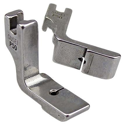 Industrial máquina de coser piezas pies prensatelas P50 que se pliega