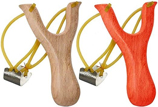 Solid Wooden Slingshot Toys With Classic Construction Hunting for Catapult Game for sale online