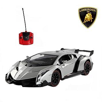 Amazon.com: Lamborghini Veneno RC Car, 1/14 Scale Radio Control Toy ...